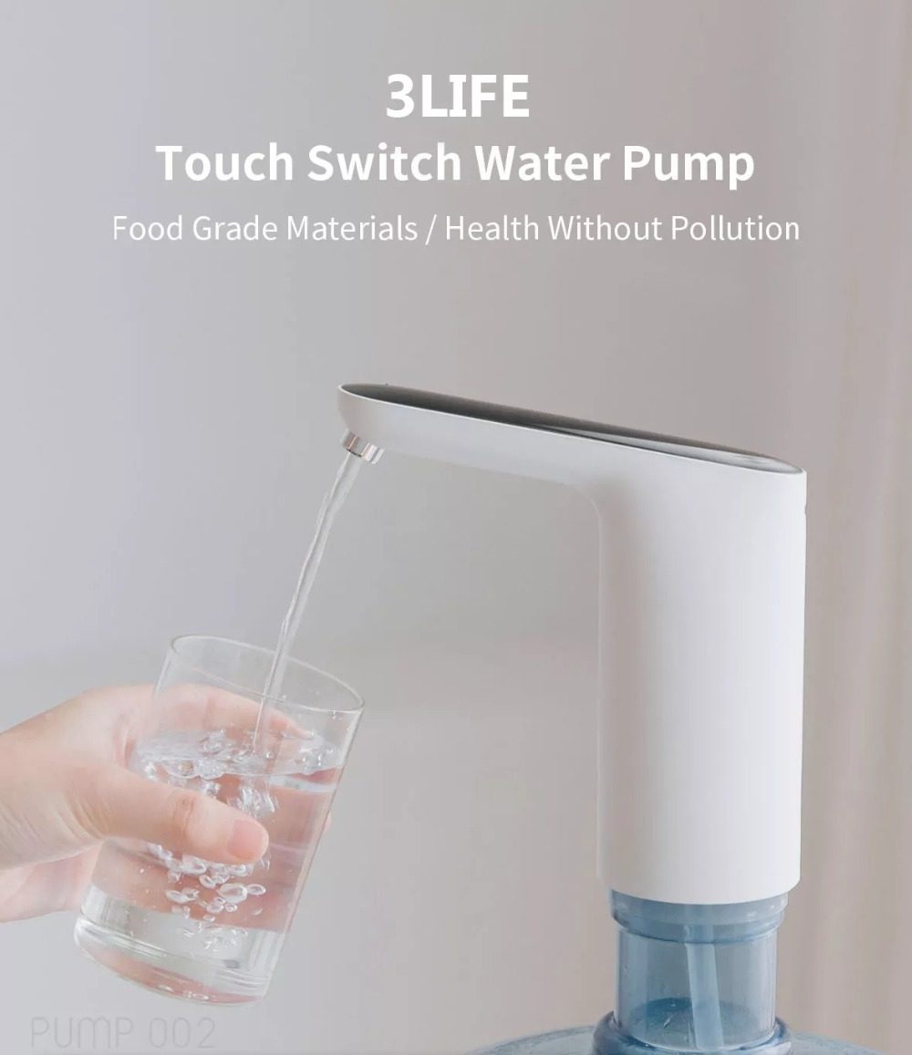 XIAOMI Mijia 3LIFE Automatic USB Mini Touch Switch Water Pump Wireless Rechargeable Electric Dispenser Water Pump With USB Cable (6)