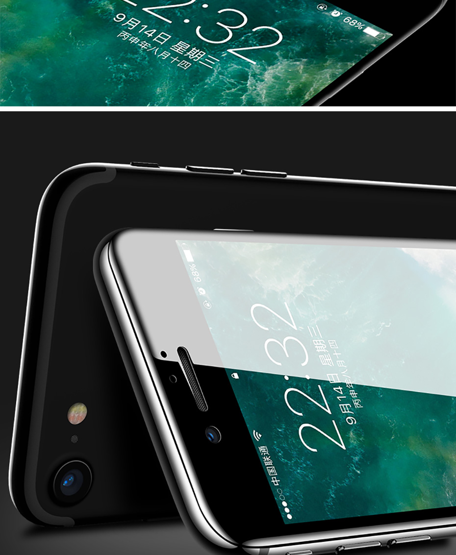 5D Tempered Glass For iPhone XS XR XS MAX Screen Protector Cover For iPhone 8 X 7 6 6S Plus Screen Protector Cover Case (3)