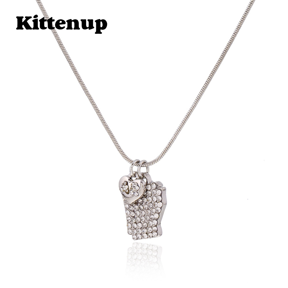 Kittenup Heart Shape Simple Style Map Jewelry Pendant Necklace For Women Gift In Georgia Alabama Kentucky United States ...