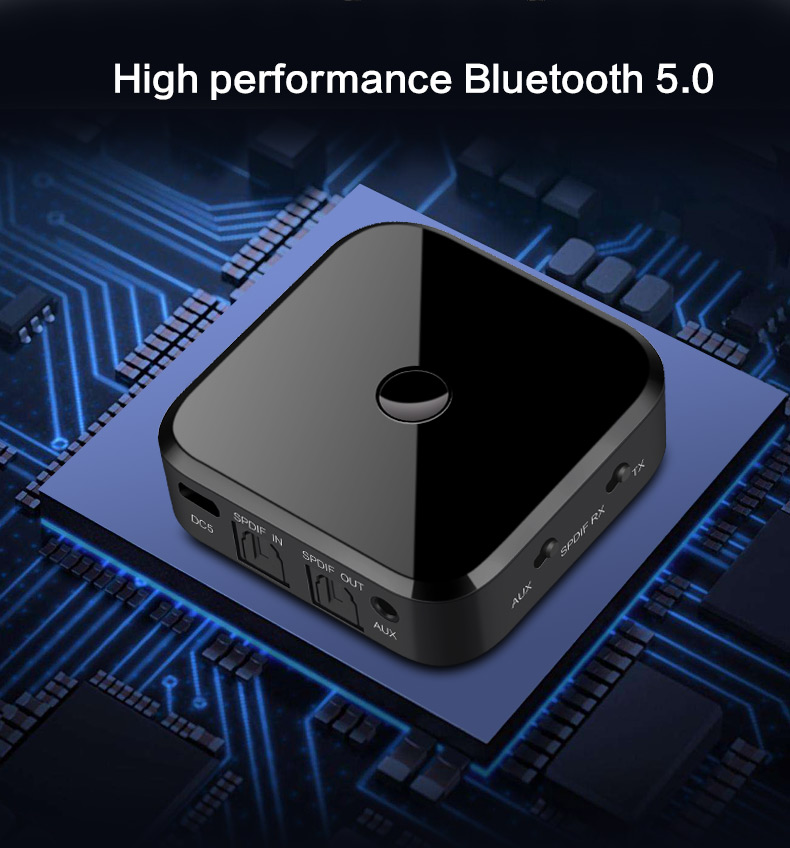 Image 2 - Bluetooth 5.0 Transmitter Receiver Stereo Optical Fiber APTX HD Audio Music Wireless USB Adapter 3.5mm AUX Jack/SPDIF for TV PC-in USB Bluetooth Adapters/Dongles from Computer & Office
