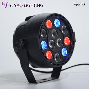 12 LED RGBW LED DMX Color Mixing 8CH Can DJ Professional PAR Light 6PCS/LOT