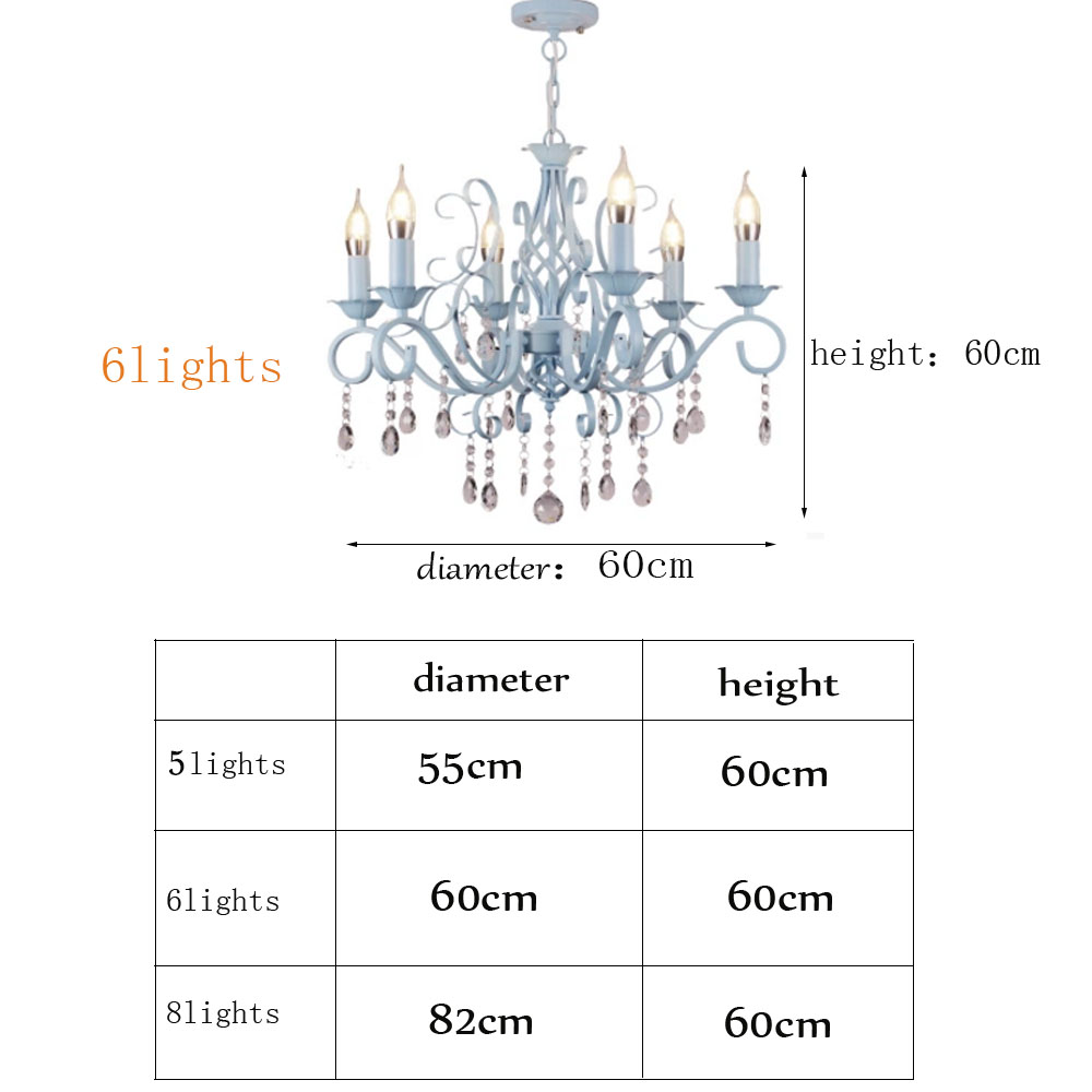 Aliexpress Buy HGHomeart Blue Chandelier LED Lustre Suspension Nursery Chandeliers Iron Lamp Bedroom Lights Restaurant Livingroom Lighting From