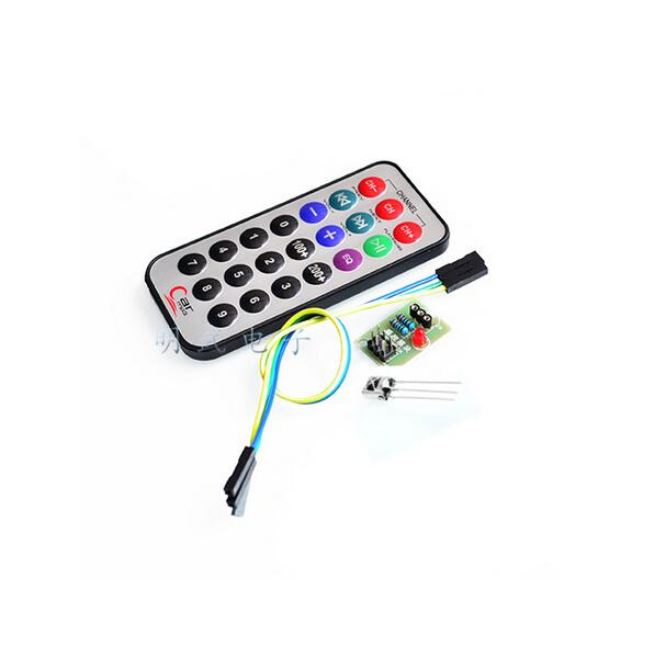 3pcs=1set SCM Infrared Remote Control module+receiver <font><b>HX1838</b></font>+NEC Coded Infrared Remote Control For Arduino image