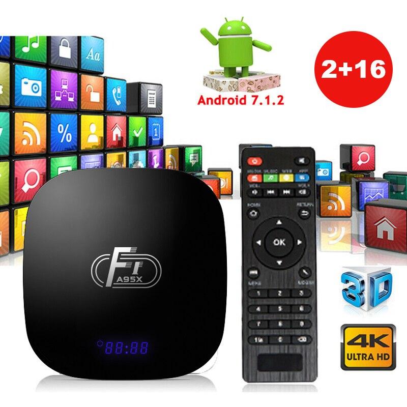 A95X F1 Smart TV Box Android 8 1 Amlogic S905W Quad Core Set Top Box 4K 2G 16G 2 4GHz WiFi A95XF1 Support H 265 4K PK X96 mini