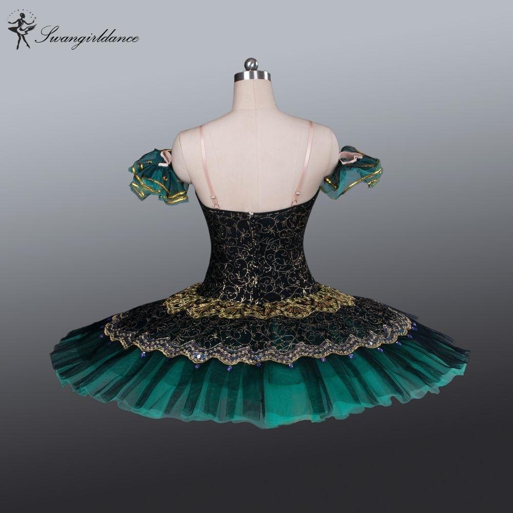 Picture of Adult Black Green La Esmeralda Ballet Tutu Performance Professional Classical Ballet Tutus Girls Pancake Tutu Nutcrackerbt8941