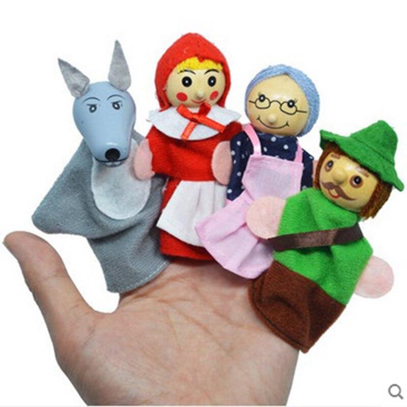4 шт./компл. Бархат Finger животных Кукольный Play узнать История игрушек милый мультфильм палец Марионетки детские игрушки животных ручной Мари...