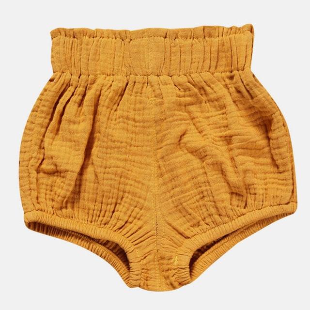 0-5Y Kawaii Newborn Baby Bloomers Shorts PP Pants Cotton Linen Triangle Solid Dot Bobo Bebe Girls Shorts Summer Trouser Toddler 2