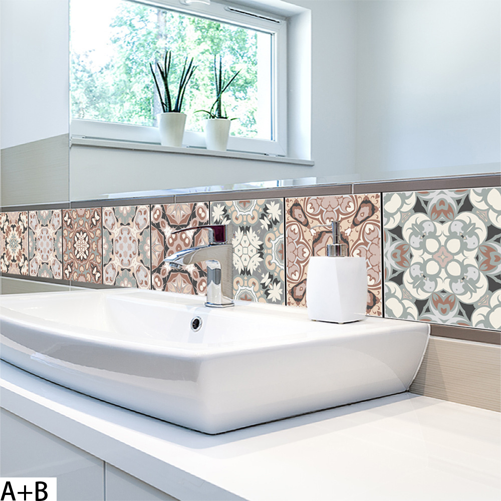 Arabic Style Mosaic Tile Stickers For Living Room Kitchen Retro 3d Waterproof Mural Decal Bathroom Decor Diy Adhesive Wallpaper Sturdy Construction Electronic Components & Supplies