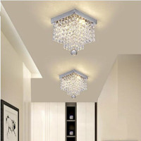 Square simple aisle living room LED ceiling crystal light balcony porch corridor aisle lights creative ceiling lamps WF5151129