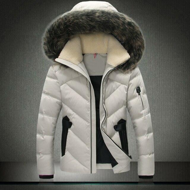 2016 мужская одежда зимняя куртка верхняя одежда рукава Теплое Пальто Шерсти Меховой Воротник Мужской Твердые мужчины и пиджаки Пальто Бренд Одежды