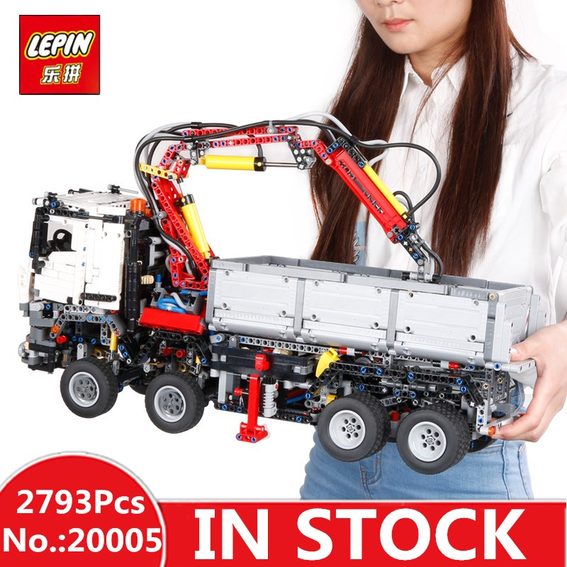 In-Stock LEPIN 20005 2793pcs NEW series 42023 Arocs Model Building Block Bricks Compatible with Boys Toy Educational Gift 05007 lepin technic series building bricks 20005 2793pcs arocs truck model building kits blocks compatible 42043 boys toys gift