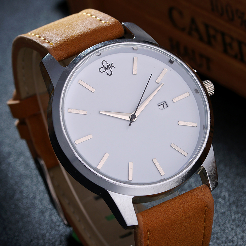 Military Leather Business Quartz Luxury Sport Casual wrist Men Watch 3