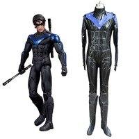 Batman arkham knight nightwing cosplay costume robin richard john dick grayson blue and black catsuit font.jpg 200x200
