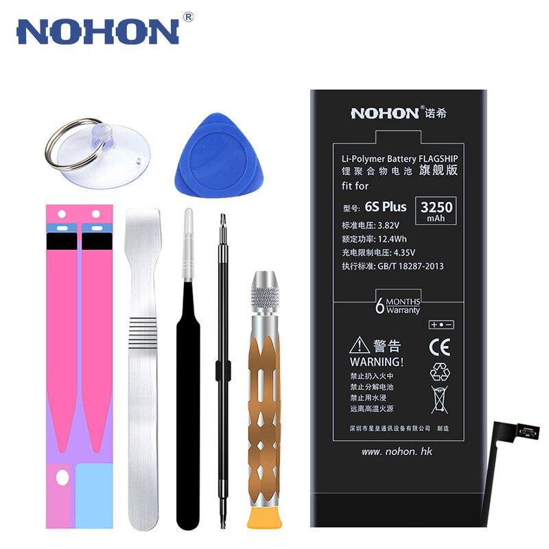 D'origine NOHON Pour Apple iPhone 6 6 S Plus 6 SPlus 5S 5 iPhone6 iPhone5 batterie de rechange Haute Capacité Bateria + outils gratuits