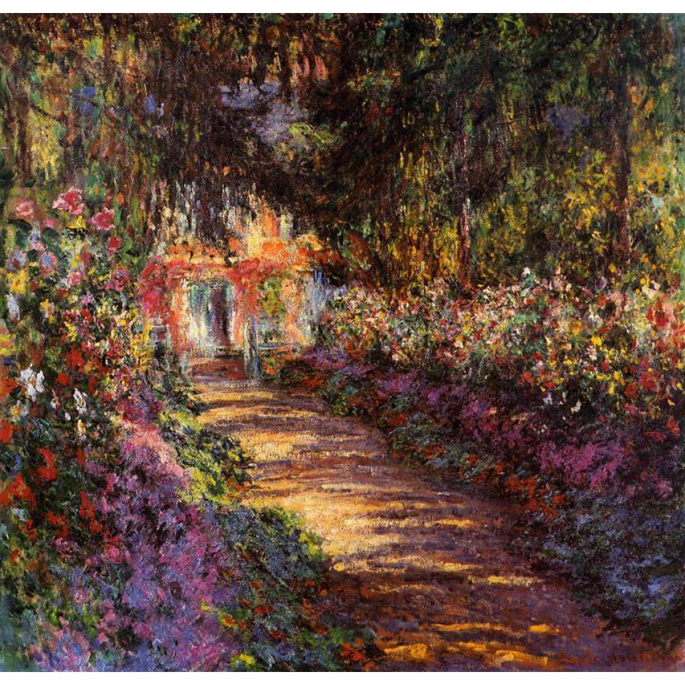High quality Claude Monet modern art Pathway in Monets Garden at ...