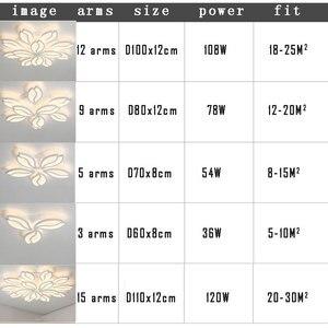 Image 5 - シンプルでモダンな Led シャンデリアリビングルームベッドルームダイニングルームのためルームランプ Lustres LED 天井シャンデリア照明器具照明器具