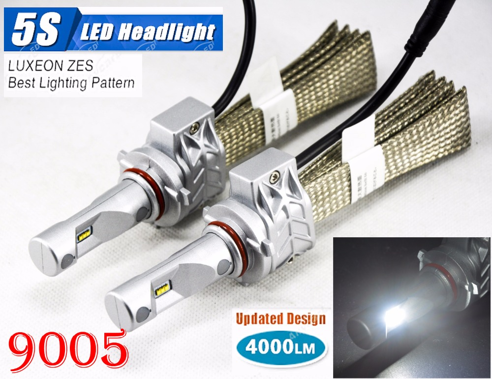 1 Set 9005 HB3 50W 4000LM 5S LED Headlight Kit LUMILED LUXEON ZES 12LED SMD Chip Fanless 6500K Driving Fog Lamp Bulb HID Halogen 1 set 9012 hir2 50w 4000lm 5s led headlight kit lumiled luxeon zes 12led smd chip fanless 6500k driving fog lamp bulb hid haloge