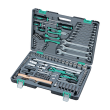 Набор инструментов STELS 14112 (119 предметов, хром-ванадиевая сталь и сталь S2, молоток, плоскогубцы, торцевые головки, биты, гаечные ключи, отвертки и др.)