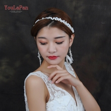 YouLaPan HP125 Bridal Headband Hair Jewelry With freshwater Pearl Wedding Accessories for the Bride