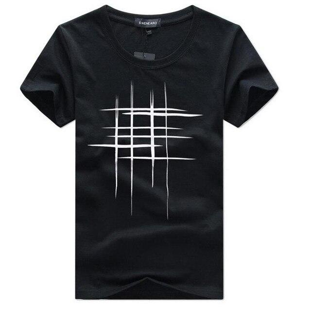 SWENEARO męska koszulka letnia z krótkim rękawem t koszula mężczyzna zwierają rękaw krótki tshirt proste kreatywny projekt linii krzyż druku bawełna mężczyźni marka koszulki