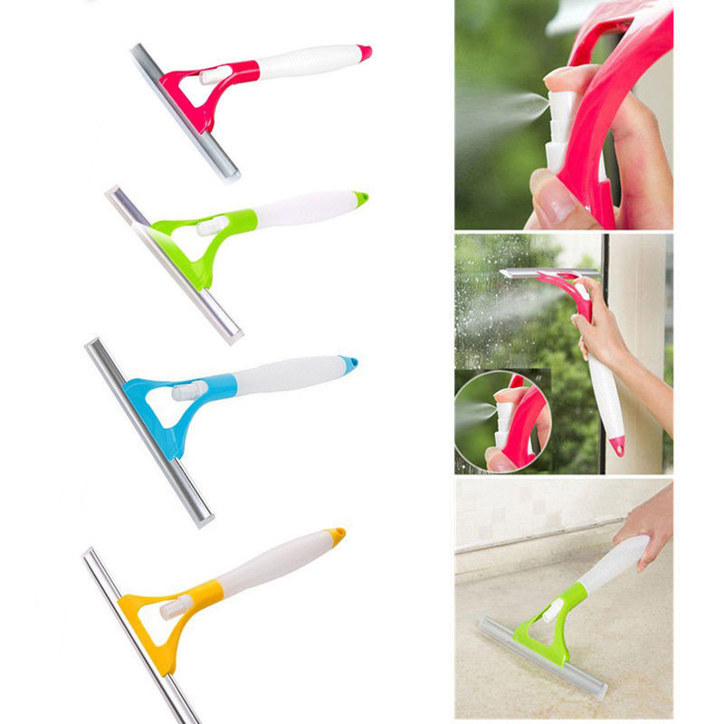 Multifunctional Windshield Clean Car Window Spray Type Cleaning Brush Glass Wiper Window Cleaner