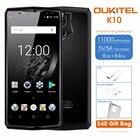 "Oukitel K10 6GB RAM 64GB ROM Mobile Phone 6.0""FHD 18:9 Full Display 11000mAh Flash Charger MTK6763 Fingerprint Face ID NFC 4G"