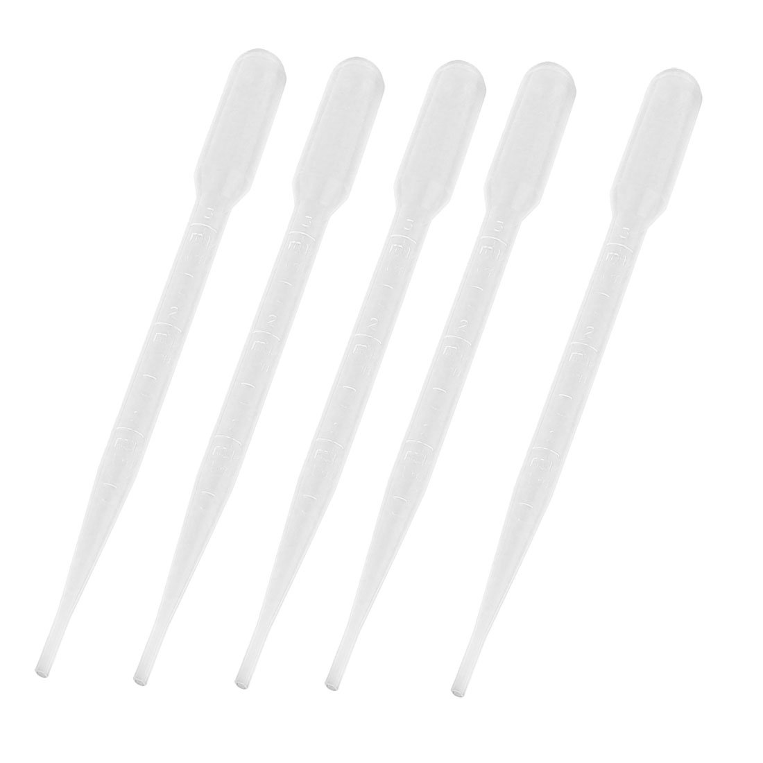 "Affordable 5 Pcs 3ml Capacity Lab Laboratory Clear Pipettes Droppers 6.1"" Long"
