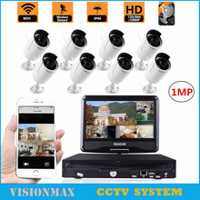 8CH 720P Wireless CCTV Camera Security kit 2TB NVR HDD 1MP Outdoor IR Night Vision IP Camera Surveillance System 10.1″ Monitor