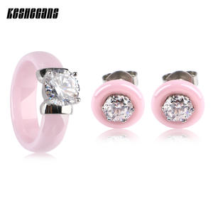 TUHE Jewelry Set For Women Crystal Rings Rhinestone Girl