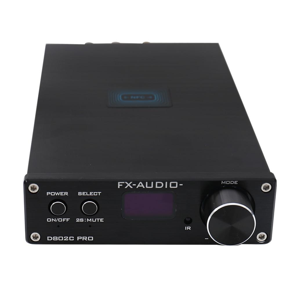 FX Audio D802C PRO Pure Digital Amplifier Wireless Bluetooth USB/AUX/Optical/Coaxial Support APTX NFC Digital Amplifier