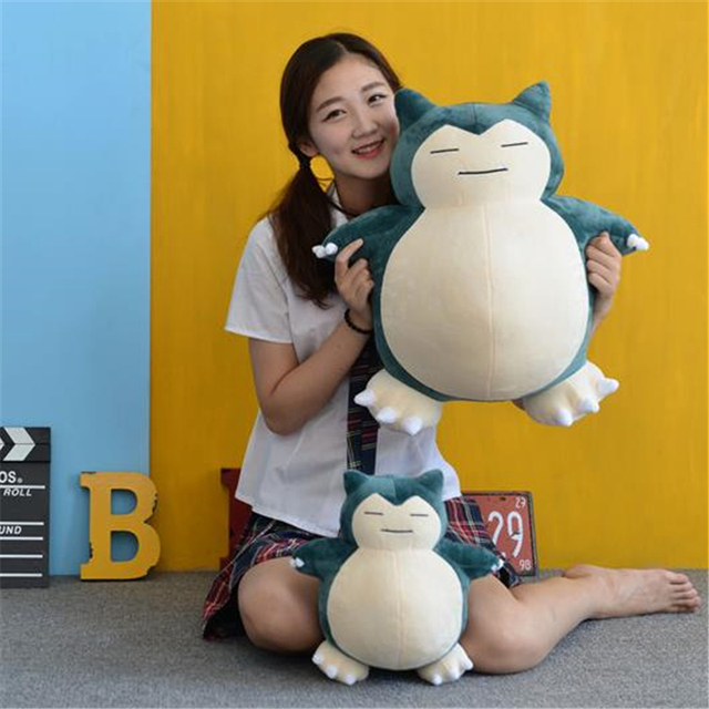 Anime Pokemon Snorlax Cosplay Props Toys Pillow Soft Cotton Kawaii Plush Doll 30cm 50cm Height Kids Child Teens Girls Collection 2