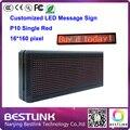 16 * 160 пикселей p10 крытый из светодиодов знак один красный graghpic такси цифровой из светодиодов dispaly экрана щит прокрутка из светодиодов сообщение знак