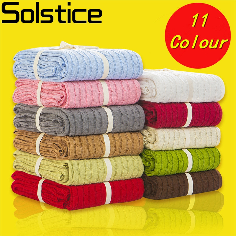 Comfortable warm knitted wool blanket rhombus Sofa/Bed cover quilt Knitted blanket 100% Cotton 110*180/200*180 cm thread blanket цены онлайн