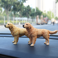 Fashion Golden Retriever Stand Posture Simulation Dog Model Resin Car Handicraft Home Accessories Murals Accessories Furnishing
