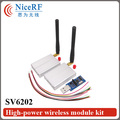 Interfaz RS485 SV6202-2sets 433 Mhz | 2 W de Alta Potencia de 5Km Larga Distancia | transmisor y receptor