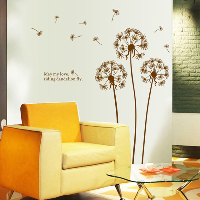 Removable Beautiful Dandelion Wall Sticker Living Room Bedroom Decal ...