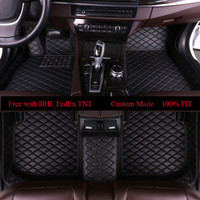 OLPAY Leather Car Floor Mats For Bmw 3 Series E30 E36 E46 E90 E91 E92 E93 F30 2000 2018 Custom Foot Pad Automobile Carpet Cover