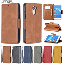 Flip leather case for Huawei Y5 2017 Y6 Y7 2018 Y9 2019 Wallet flip cover Cover Funda