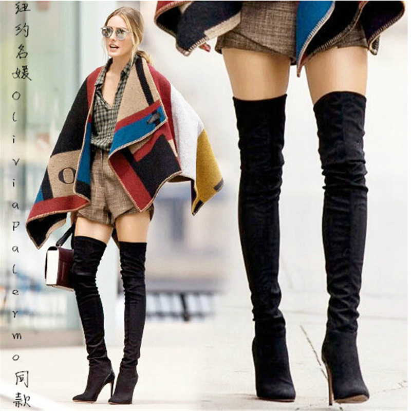 Size 12 Thigh High Flat Boots - Boot Hto