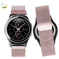 2017 milanesa de bucle de la correa de acero inoxidable reloj de pulsera de banda para samsung gear s2 classic (SM-R7320) banda de reloj para los hombres mujeres