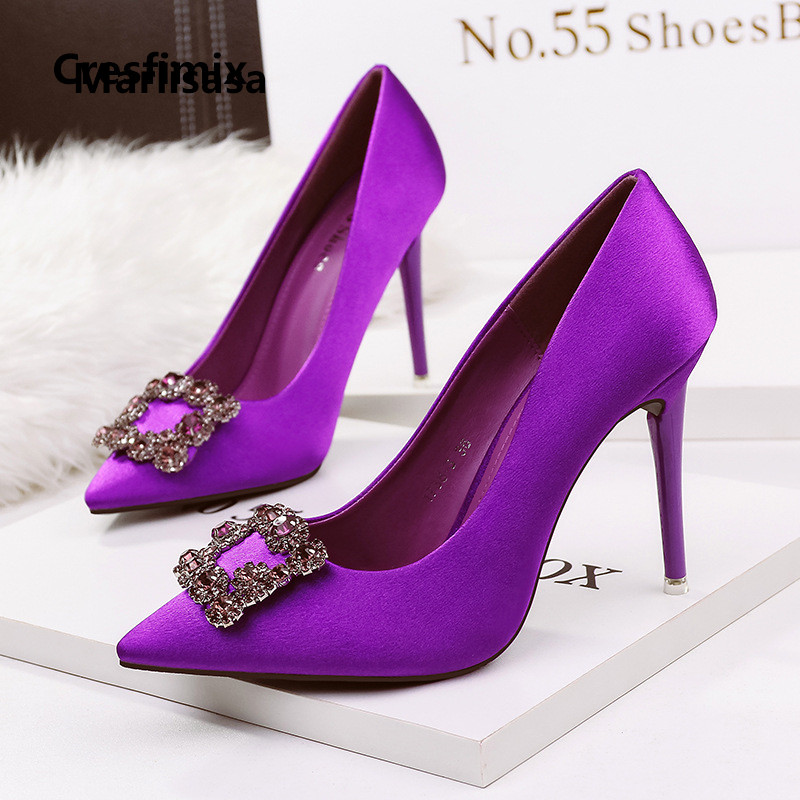 Frauen High Heels Lady Fashion Sweet Comfortable Purple High Heel Pumps Women Sexy Party Night Club High Heel Shoes G2456
