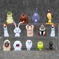 Lindo 14 unids/lote el secreto vida mascotas pvc bola de nieve gidget mel max duque dog cat conejo figura de acción de juguete