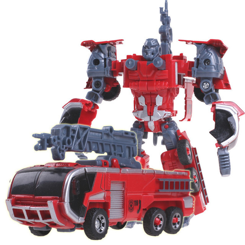 Kid Toys 5 in 1 Combiner Big Size  Toy Deformation Robot Car Defensor Action Figure Fire Engineering Truck Motorcycle Gift 4 channel relay module expansion board for arduino works with official arduino boards