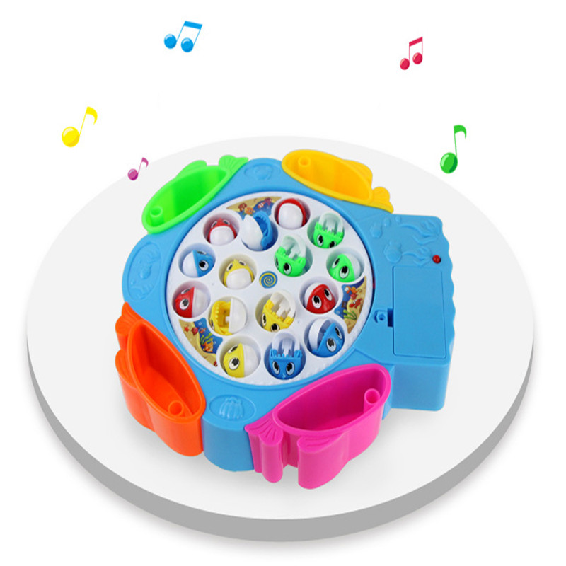 Electric Rotating Fishing Game Magnetic Outdoor Sports Toys Children Educational Toys Fi ...