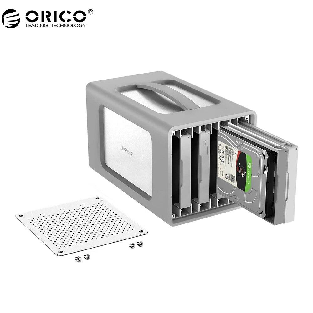 ORICO 4 Bay In Lega di Alluminio Tipo-C Hard Drive Enclosure 3.5 Pollici Caso del Disco Rigido Con Raid E Cover In Silicone Supporto 40 TB stoccaggio
