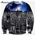 Raisevern New Fashion Women Men Galaxy Space Print Pullover Hoody 3D Galaxy Sweatshirts Hoodies Blouse Tops Casual Mens Clothing
