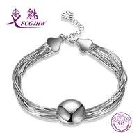 Bedelarmband voor Vrouwen Sterling Zilver 925 Fijne Sieraden Unieke Ontwerp Kwastje Verklaring Mode Stijl Valentijnsdag Gift