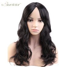 SNOILITE 19″ 48cm Party Cosplay Wig Women Long Curly Black Brown Blonde Pink Purple Red Synthetic Heat Resistant