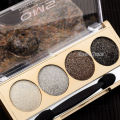 Glitter Natural Shimmer 4 Colors Smokey Eyeshadow Palette Warm Eye Shadow Makeup