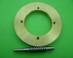 1 zestaw/1 M 90 T współczynnik redukcji: 1: 90 miedzi przekładni ślimakowej średnica przekładni: 93mm 1: 90 stosunek przekładnia ślimakowa ze stali redukcji biegów|Części do maszynek do mielenia|AGD -